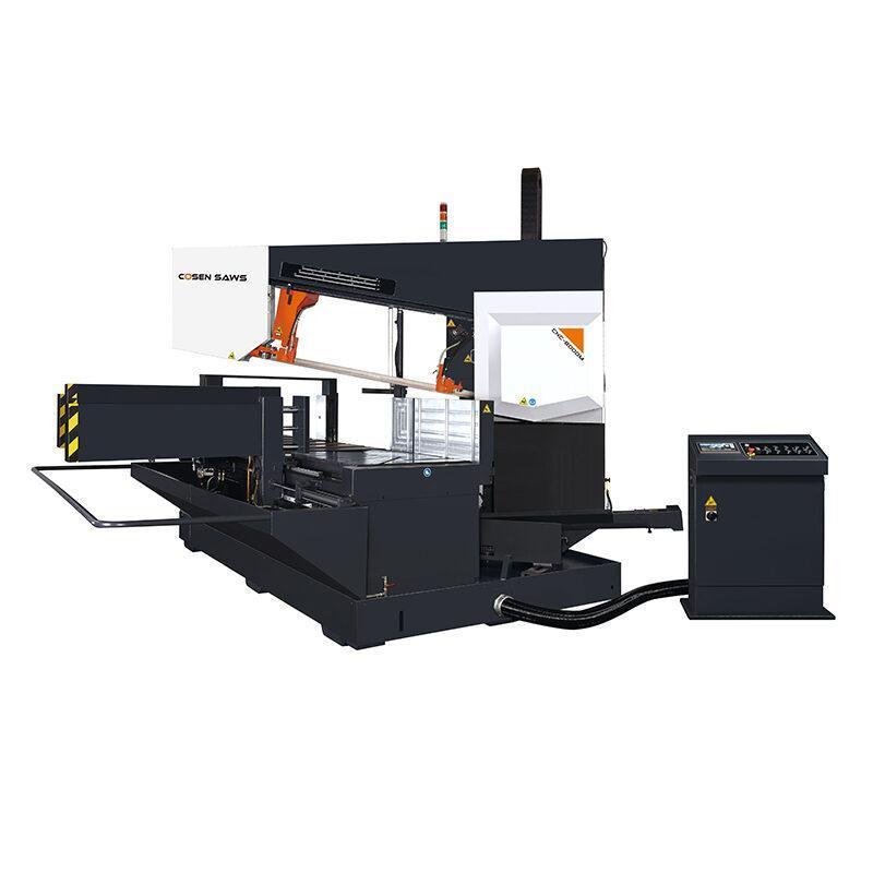Tračna žaga COSEN CNC-800DM za rezanje pod kotom