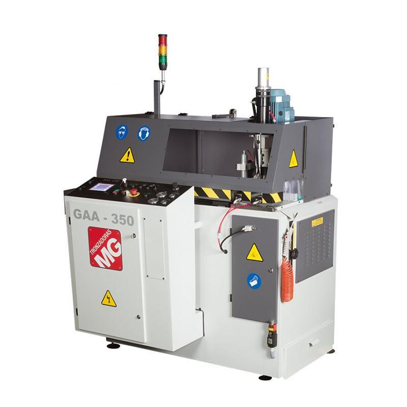 Avtomatska krožna žaga z vrtalnim sistemom in CNC krmiljem GAA-350-90-TR12-CNC